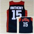 Dream Team 2017 USA Jersey 15 Carmelo Anthony Black Basketball Jerseys Best