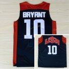 Dream Team 2017 USA Jersey 10 Kobe Bryant Black Basketball Jerseys Best