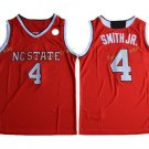 #4 Dennis Smith JR. NC State Wolfpack WHite Color Jersey 2017 New Style High Guality Stitched