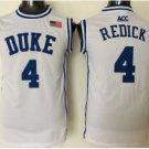 4 JJ Redick Duke Blue Devils Men's College Jerseys High Quality Basketball Shirts White Style 1