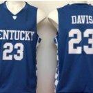 2017 Kentucky Wildcats College Jerseys #23 Anthony Davis Basketball Shirts Blue