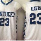 2017 Kentucky Wildcats College Jerseys #23 Anthony Davis Basketball Shirts White