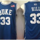 Throwback 33 Grant Hill Blue Devils College Basketball Jerseys Uniform Sport Stitched Blue Style 2
