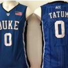 Men 0 Jayson Tatum Duke Blue Devils Jerseys College Sport Basketball Shirts Blue Style 1