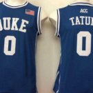 Men 0 Jayson Tatum Duke Blue Devils Jerseys College Sport Basketball Shirts Blue Style 2
