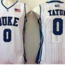 Men 0 Jayson Tatum Duke Blue Devils Jerseys College Sport Basketball Shirts White Style 2