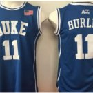 11 Bobby Hurley Duke Blue Devils College Basketball Jerseys Blue Embroidery Logos Style 2