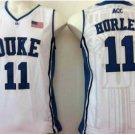 11 Bobby Hurley Duke Blue Devils College Basketball Jerseys White Embroidery Logos Style 2