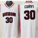 #30 Stephen Curry Davidson Wildcats College Jersey White Stitched University Basketball Shirts
