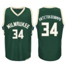 men new 34# Giannis Antetokounmpo Green jersey basketball jerseys High quality embroidery