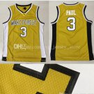 3# Chris Paul Wakeforest University jerseys 100% stitched College Basketball Jersey