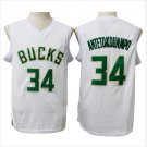 34# Giannis Antetokounmpo basketball jersey 100% stitched White Fashion Replica Jerseys