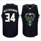 34# Giannis Antetokounmpo basketball jersey 100% stitched Black Fashion Replica Jerseys