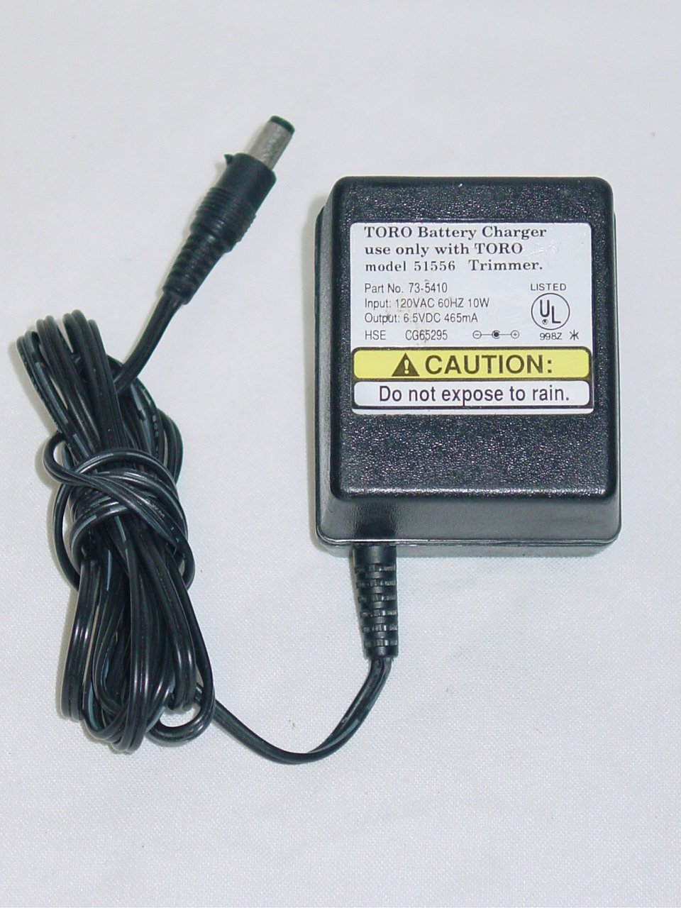 Toro 51556 Trimmer Battery Charger AC Adapter 73-5410 6.5V 465mA