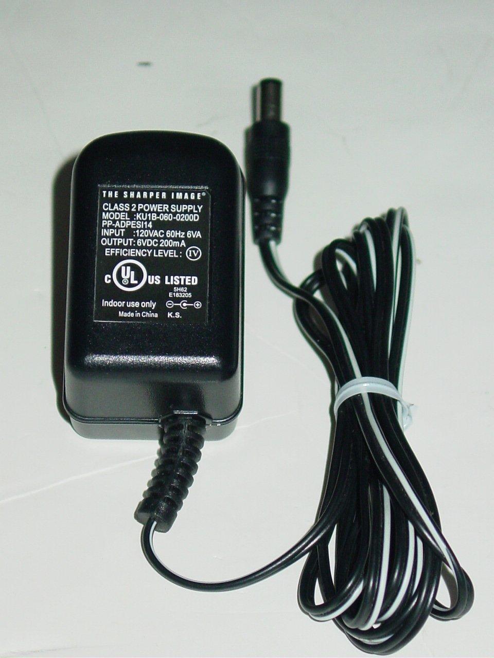 The Sharper Image KU1B-060-0200D AC Adapter PP-ADPESI14 6V 200mA KU1B0600200D