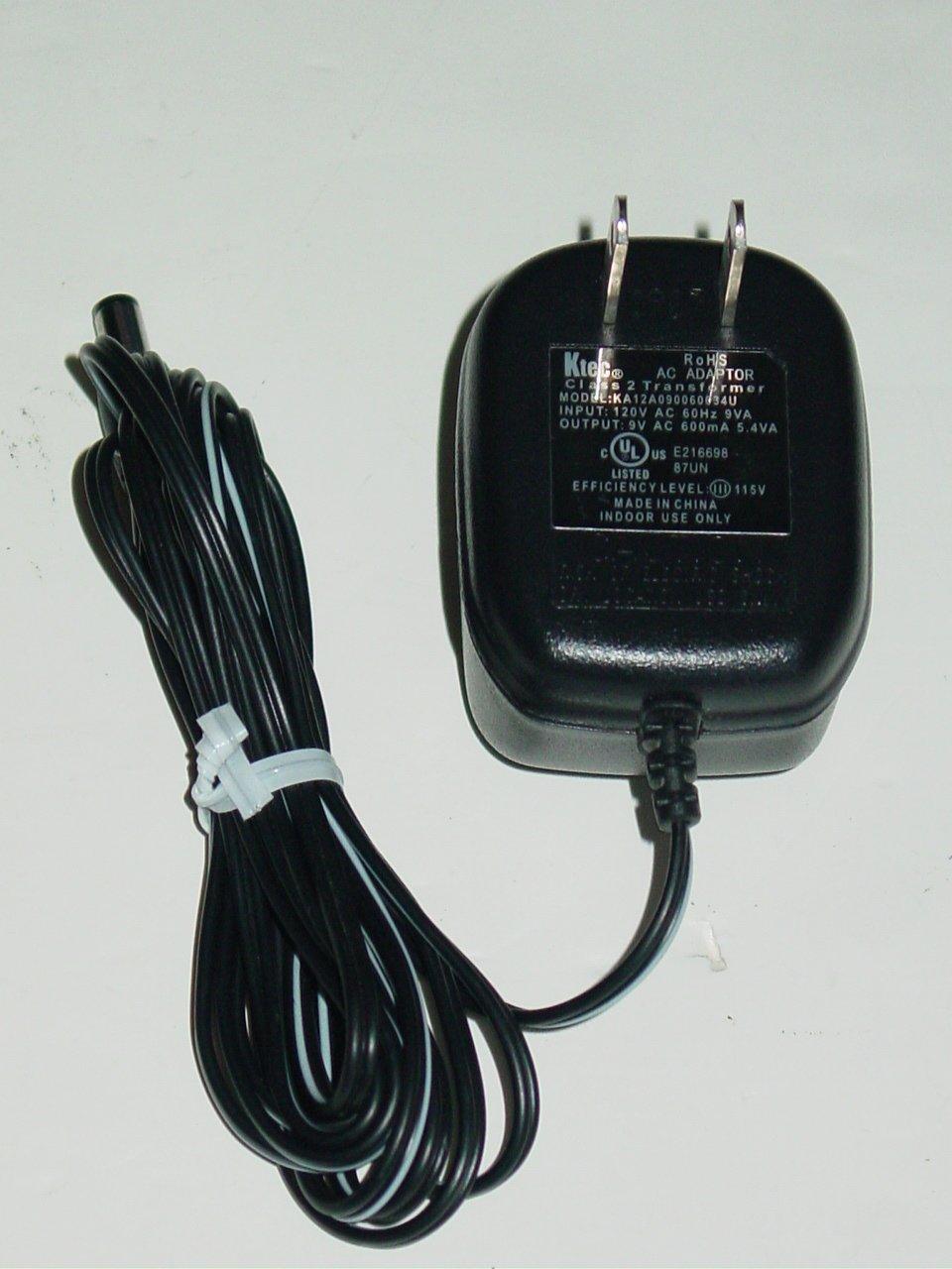 Ktec KA12A090060034U AC Adapter 9VAC 600mA