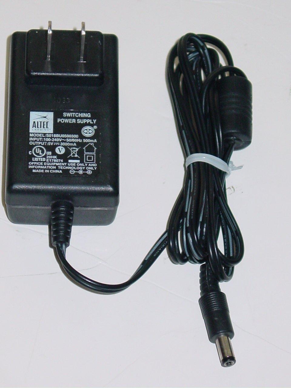 Altec Lansing S018BU0500300 AC Adapter 5V 3000mA