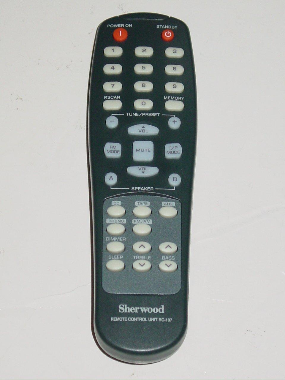 Sherwood RC-107 Audio System Remote Control