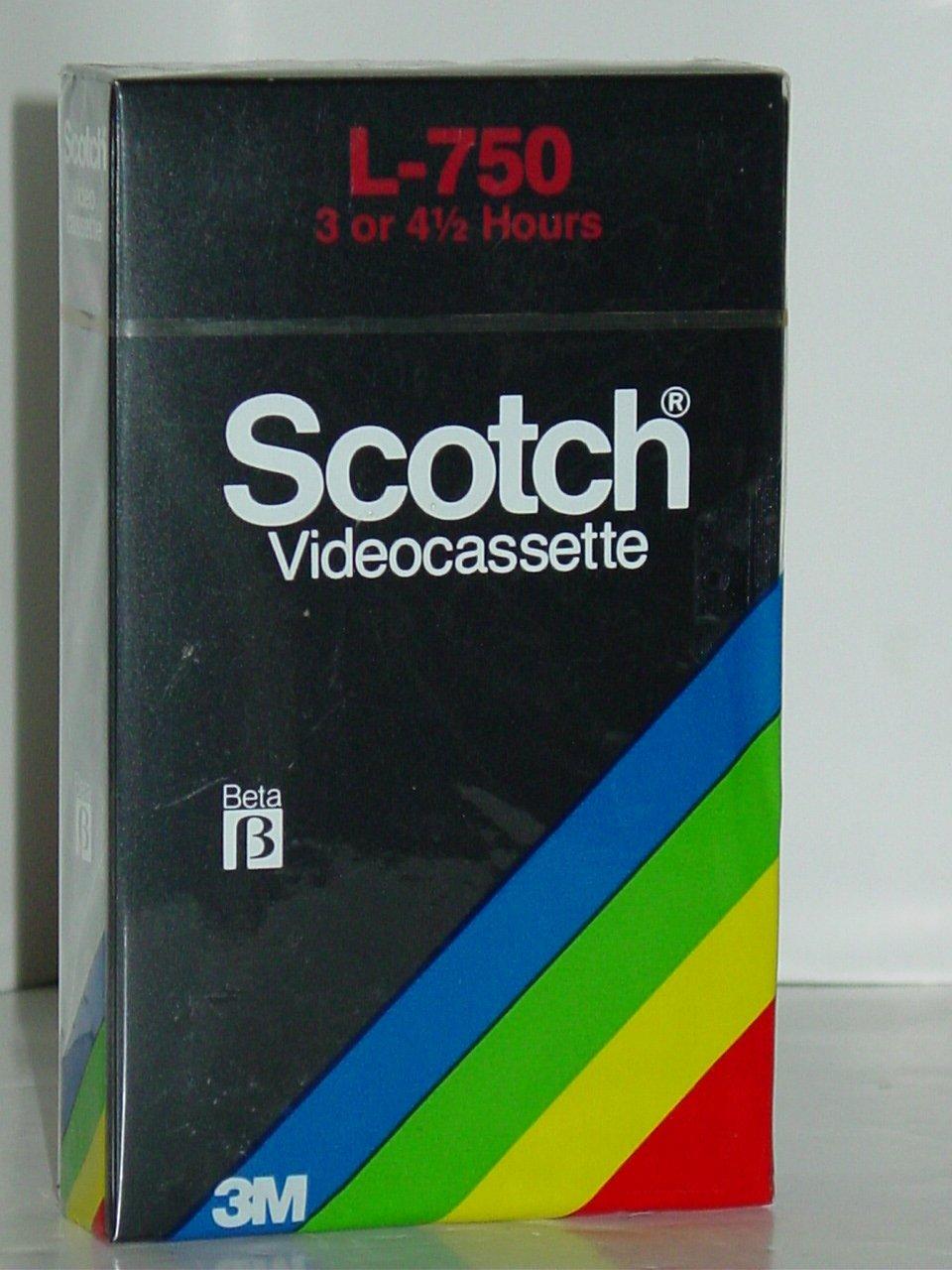 3M Scotch L-750 Blank Beta Video Cassette Tape 3 or 4 ½ Hours L75