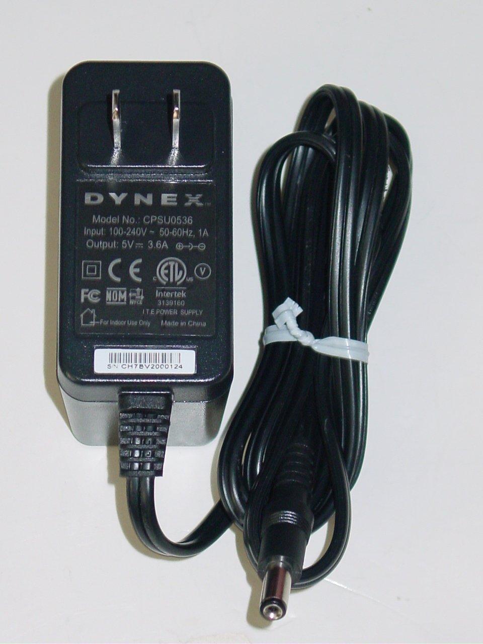 Dynex CPSU0536 AC Adapter 5V 3.6A