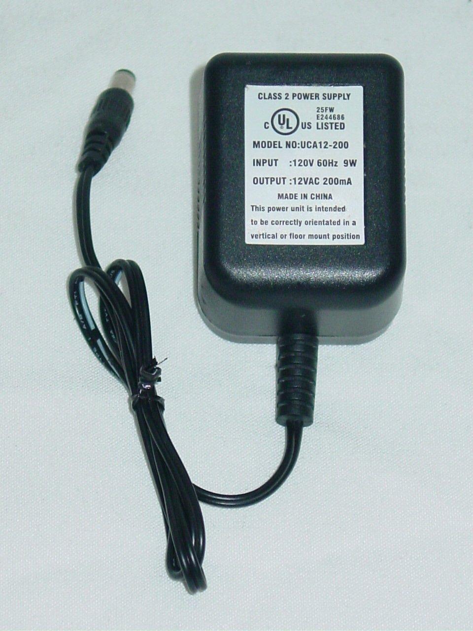UCA12-200 AC Adapter 12VAC 200mA UCA12200
