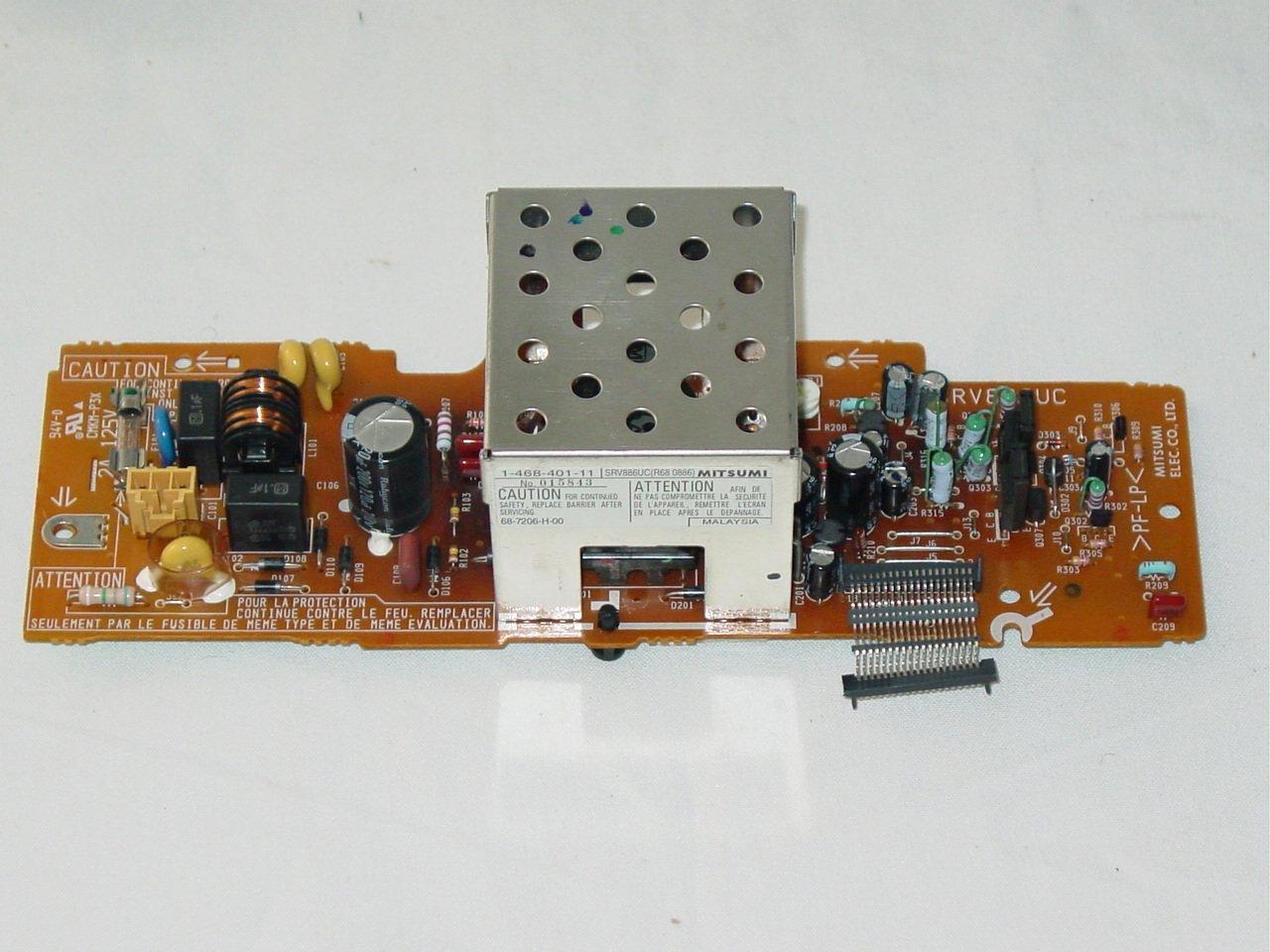 Sony SLV-M91HF VHS VCR Power Supply Board SRV886UC