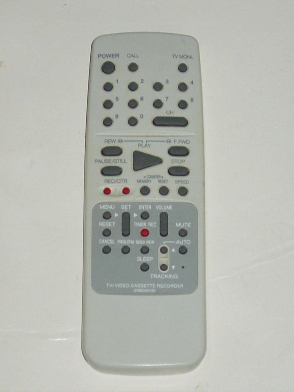 Orion Sansui 0766093100 TV VCR Remote Control