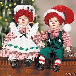 BOBBY & BETTY DOLLS AS SANTA & MRS CLAUS
