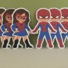 "Spiderman Die Cuts Set Of 6 (5.5"") Party Favors"