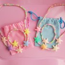 Little Girls Jewelry Set Necklace and Bracelet-Ocean Star 10 Sets