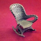 Miniature Rocking Chair Vintage 1980's Replica Rustic Antique Collectible Pencil Sharpener