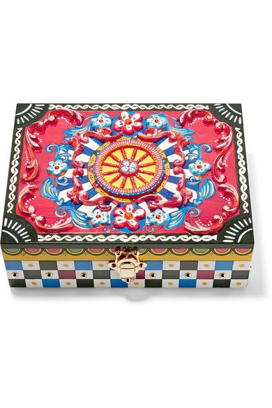 DOLCE & GABBANA Carretto painted carved wood jewelry box