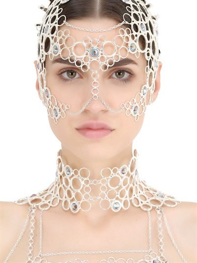 IDRISS GUELAI ATELIER ASILE BODY HARNESS WITH MASK