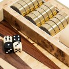 AERIN Faux shagreen and wood backgammon set