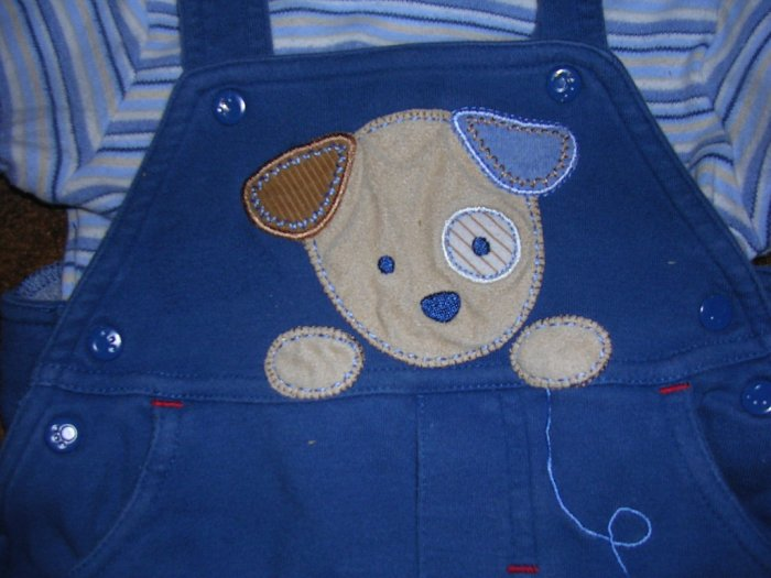 CARTERS 2 PC OUTFIT. COTTON OVERALLS AND SHIRT