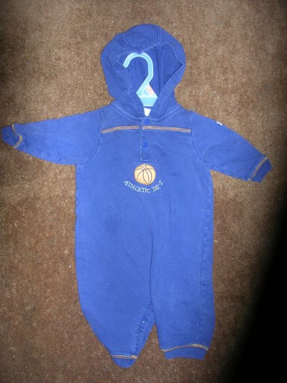 LITTLE ME BY CARTER'S BOYS HOODED ROMPER