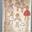 Vintage Simplicity Pattern 4210: Wardrobe for Kissy Doll, Free Shipping