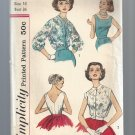 Antique Simplicity Pattern 2468: Misses Blouse Set, Free Shipping