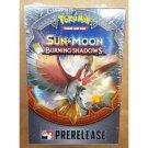 Pokemon TCG Sun & Moon Burning Shadows Prerelease Kit Free Shipping
