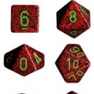 Chessex Strawberry Speckled Polyhedral 7-Die Set, Free Shipping