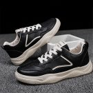 Casual Ulzzang Shoes Men Rugged Footwear Fashion Clunky Sneakers Faux Leather Autumn Korea Dad Shoes