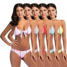 Spaghetti Straps Sexy Beach Wear Low Waist Swimwear Fashion Summer Brazilian Girl Bikinis