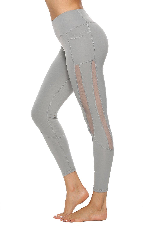 Hot Sale Fashion Lift Butts Yoga Pants with Pocket Women MeshSport Leggings