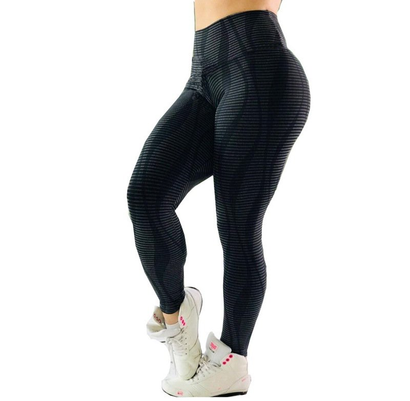Sexy Black Exercise Capris High Waist Sport Leggings Lift Butts Fitness Pants
