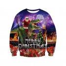 Unisex Christmas Hoodies Plus Size XXL Print Sweatshirt Fashion Xmas 3D Santa Printed T-shirt
