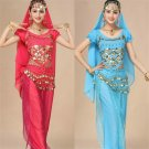 Middle Eastern Arab Girl Burka Pink Halloween Belly Dance Uniform Women Raqs Sharqi Costume
