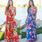 Plus Size XXL Fashion Bohemian Dresses Summer Beach Floral Printed Party Dresses