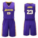 Teen Style James Lakers Tops with Pant Basketball Training Suit Breathable Team Uniforms