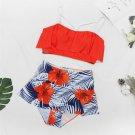 Female Swimming Wear Summer Tank Tops With Boyshorts 5XL Plus Size Swimwear