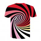 Women Short Sleeve Delusion Printed Tops Female Illusion T-shirts Plus Size Misconception Shirts